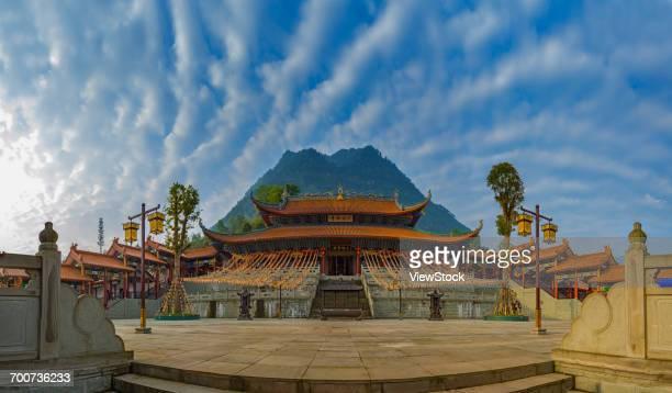 west shaolin temple,chongqing,china - 少林寺 ストックフォトと画像