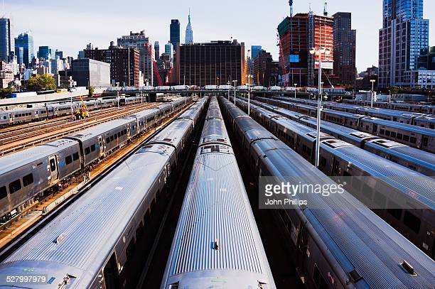 west side yard - shunting yard stock photos and pictures