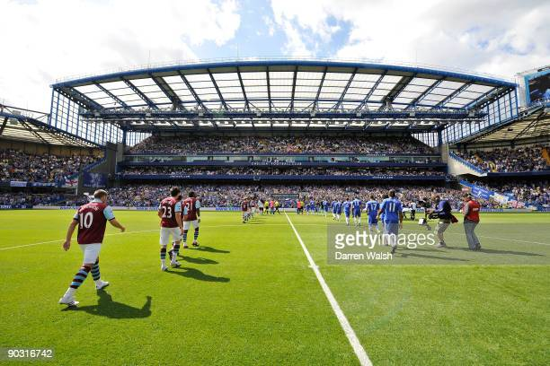 west Stand at Chelsea during the Barclays Premier League match between Chelsea and Burnley at Stamford Bridge on August 29 2009 in London England