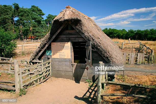 West Stow Country Park and AngloSaxon Village Bury St Edmund's Suffolk A reconstruction of an early AngloSaxon village from c420650 excavated on the...