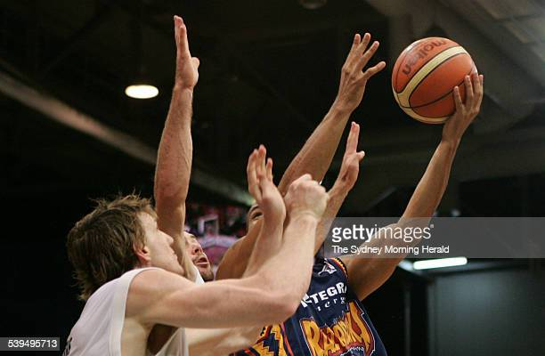 West Sydney Razorbacks versus Perth Wildcats at Sydney Olympic Park Sports Centre west of Sydney on 15 December 2004 Razorback s basketballer Carmie...