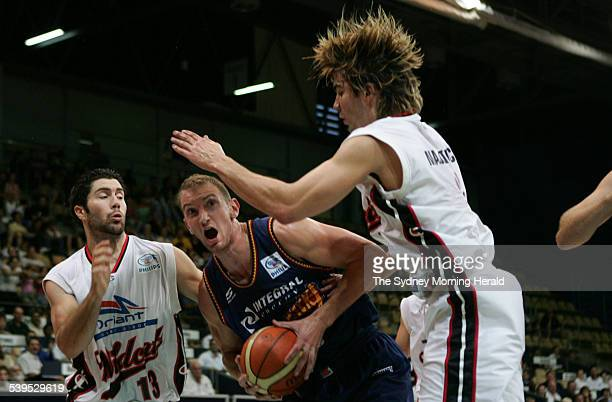 West Sydney Razorbacks versus Perth Wildcats at Sydney Olympic Park Sports Centre west of Sydney on 15 December 2004 Razorback s basketballer Nick...