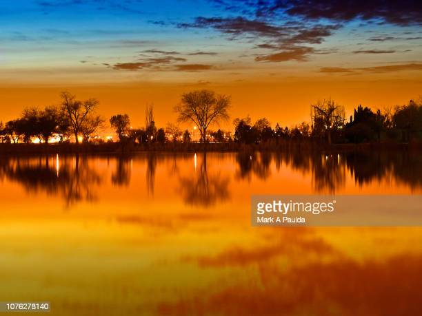 west texas sunset reflection - el paso texas stock pictures, royalty-free photos & images