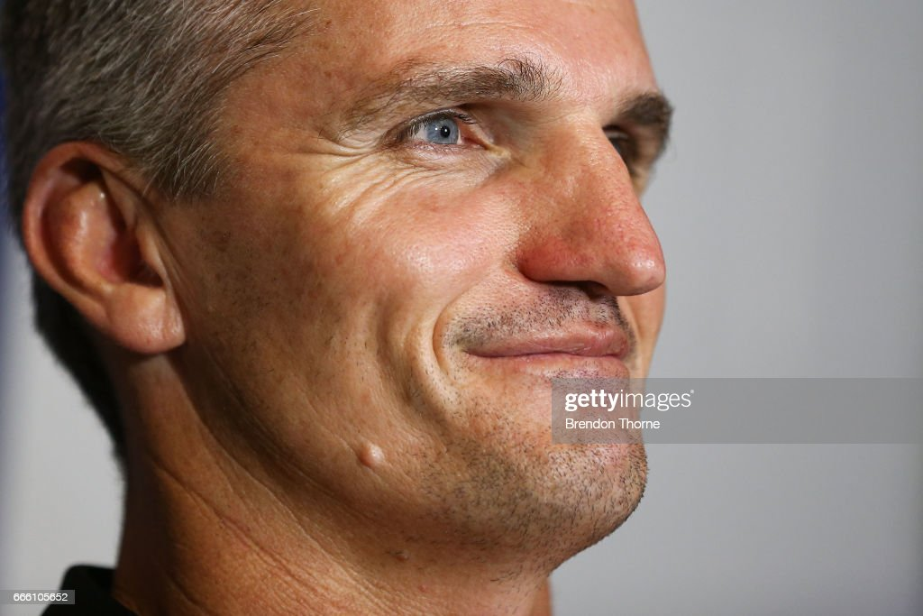 West Tigers coach, Ivan Cleary speaks with the media following the round six NRL match between the North Queensland Cowboys and the Wests Tigers at 1300SMILES Stadium on April 8, 2017 in Townsville, Australia.