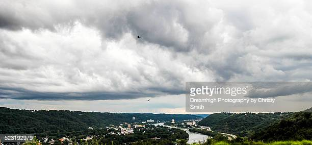 west view of charleston, wv - charleston west virginia stock pictures, royalty-free photos & images