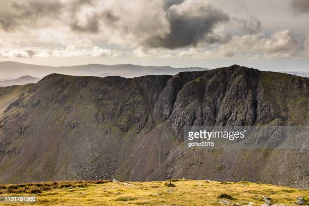 west viewpoint - dow crag - the old man of coniston summit - wilderness area stock pictures, royalty-free photos & images
