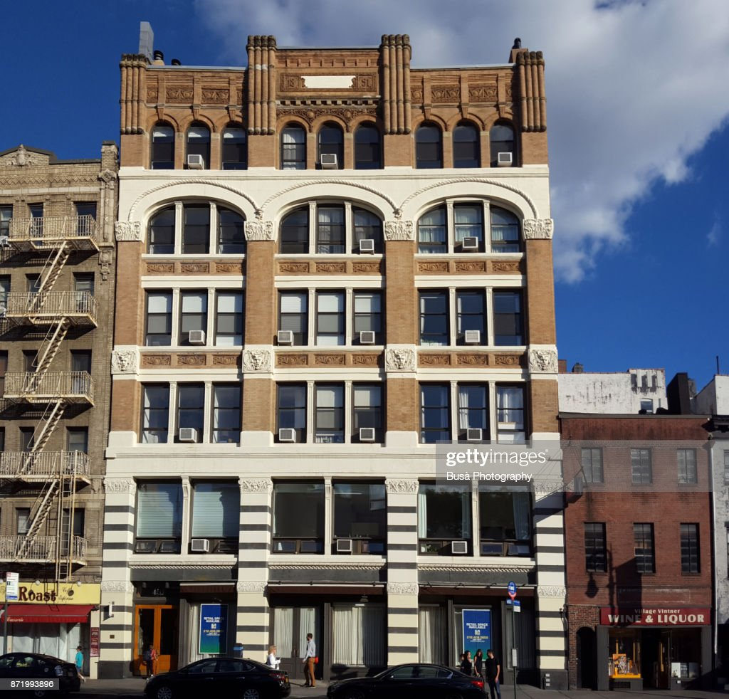 West Village Beautiful Old Commercial Building Along 6th Avenue Manhattan New York City