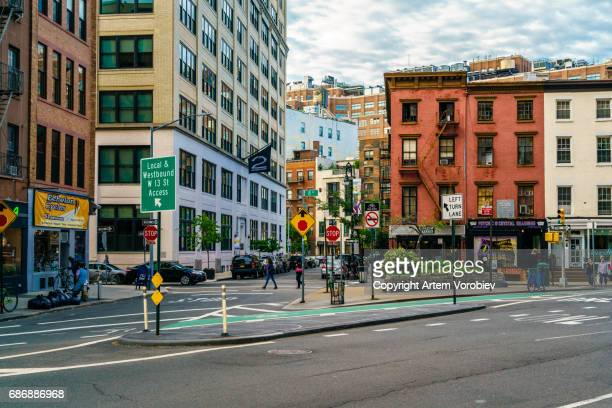 west village, new york - townscape stock pictures, royalty-free photos & images