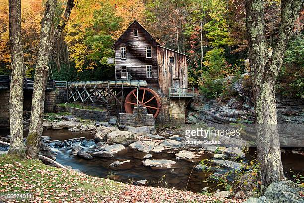 USA, West Virginia, Babcock State Park, Mill on creek in forest