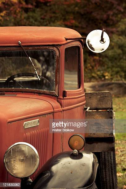 usa, west virginia, bluewell, national coal heritage area, 1930s-era truck - protohistory_of_west_virginia stock pictures, royalty-free photos & images