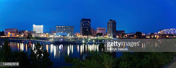 usa, west virginia, charleston, panoramic cityscape at night - charleston west virginia stock pictures, royalty-free photos & images
