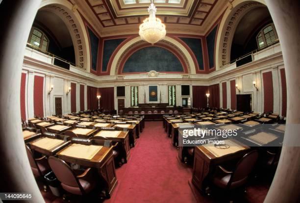 West Virginia Charleston Senate Room In State Capitol Building