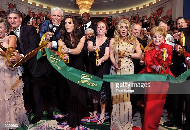 West Virginia Governor Joe Manchin, Owner and Chairman of The Greenbrier Jim Justice, Brooke Shields, Shaquille O'Neal, Lee Trevino, Cathy Justice,...