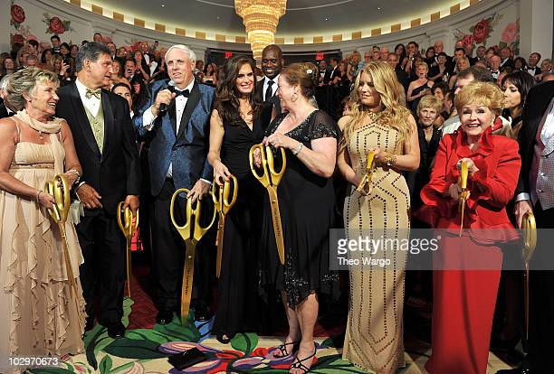 West Virginia Governor Joe Manchin, Owner and Chairman of The Greenbrier Jim Justice, Brooke Shields, Shaquille O'Neal, Cathy Justice, Jessica...