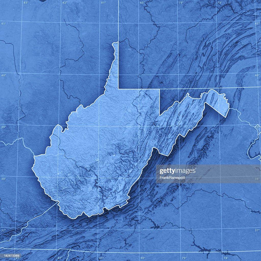 Picture of: Mapa Topographic De West Virginia Foto De Stock Getty Images