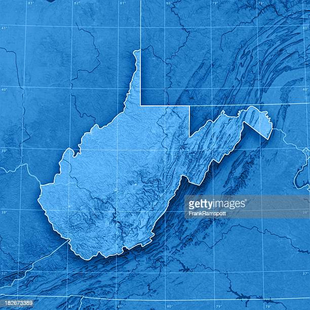 west virginia topographic map - frank ramspott stock pictures, royalty-free photos & images