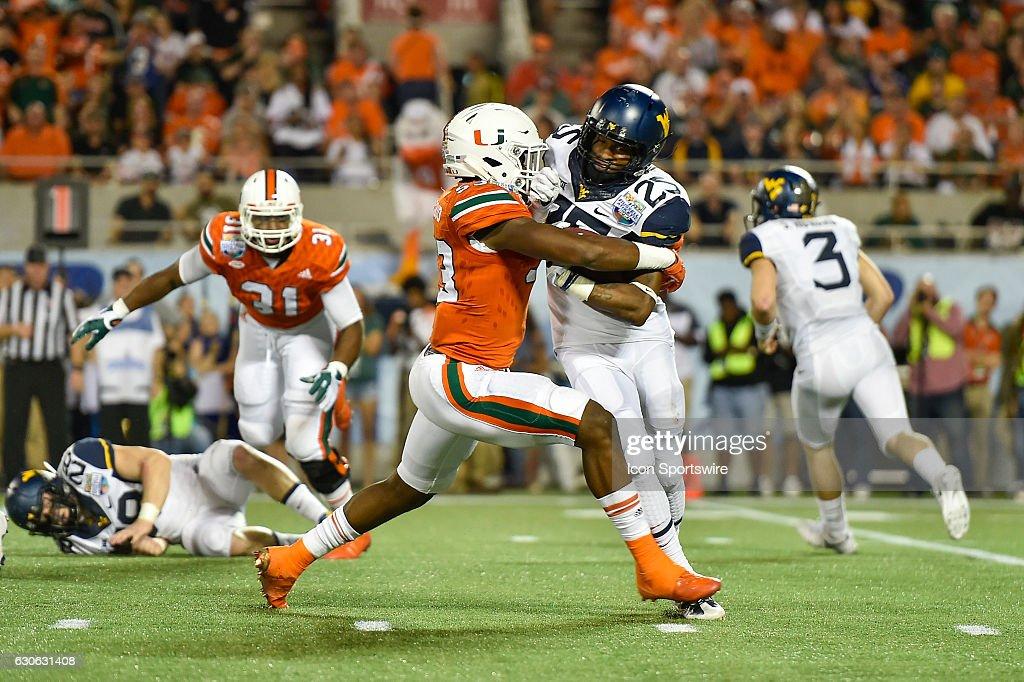 NCAA FOOTBALL: DEC 28 Russell Athletic Bowl - West Virginia v Miami : News Photo