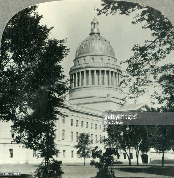 West Virginia's Magnificent State Capitol in Charleston' circa 1930s The Colonial revival West Virginia State Capitol in Charleston West Virginia was...