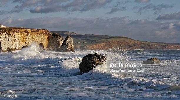 west wight landscape - s0ulsurfing photos et images de collection