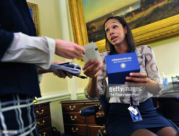 West Wing receptionist Darienne Page has been nicknamed ROTUS by no less than POTUS himself as she mans her White House desk February 2010 in...