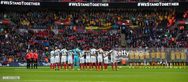 WeStandTogether was the message of defiance at Wembley Stadium ahead of England's World Cup 2018 qualifier during FIFA World Cup Qualfying European...