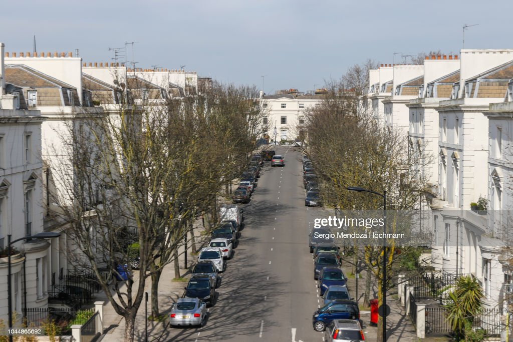 Westbourne Terrace Road in London, England : Stock Photo