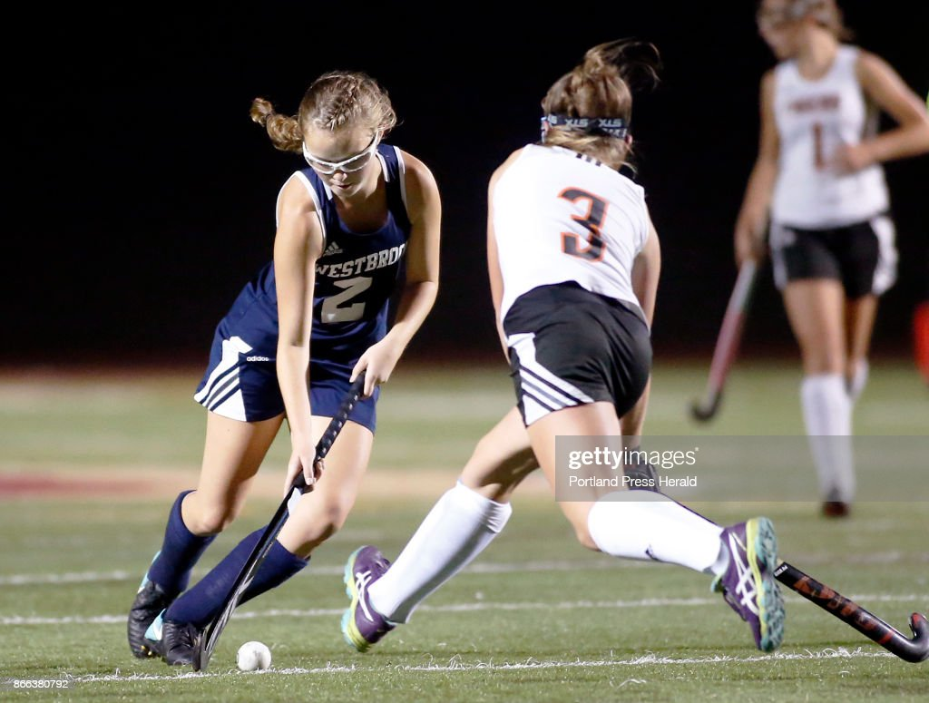 Field hockey westbrook vs biddeford class a south final westbrooks abigail symbol maneuvers the ball around biddefords abby allen during the class a south final biocorpaavc Image collections