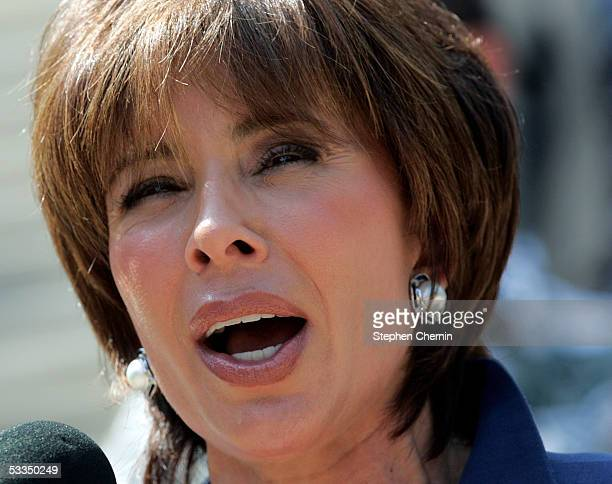 Westchester County District Attorney Jeanine Pirro announces her candidacy for the US Senate on the steps of the New York State Capitol August 10...