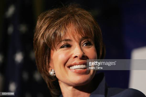 Westchester District Attorney Jeanine Pirro speaks at a news conference while officially announcing her candidacy for the US Senate August 10 2005 in...