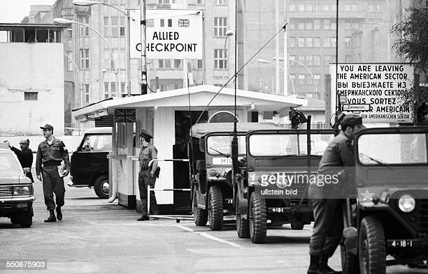 West/East Berlin border crossing point Checkpoint Charlie