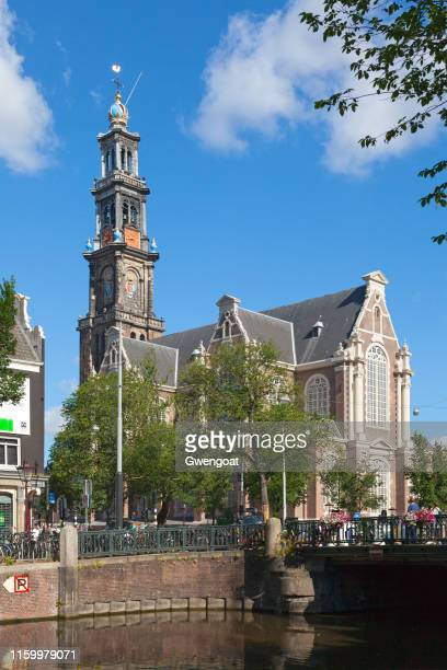 wester church in amsterdam - gwengoat stock pictures, royalty-free photos & images
