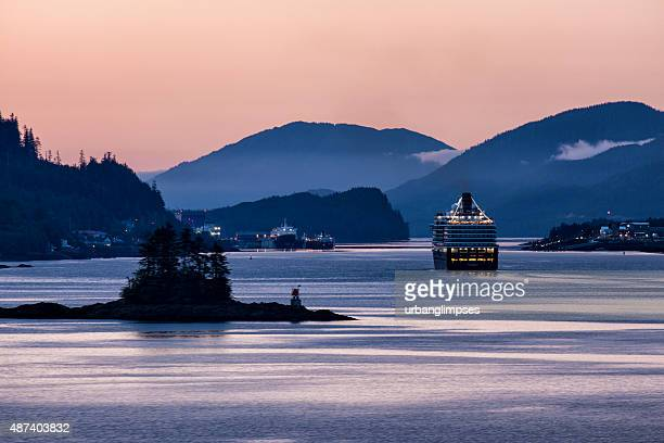 MS Westerdam Sailing Into Ketchikan at Dawn