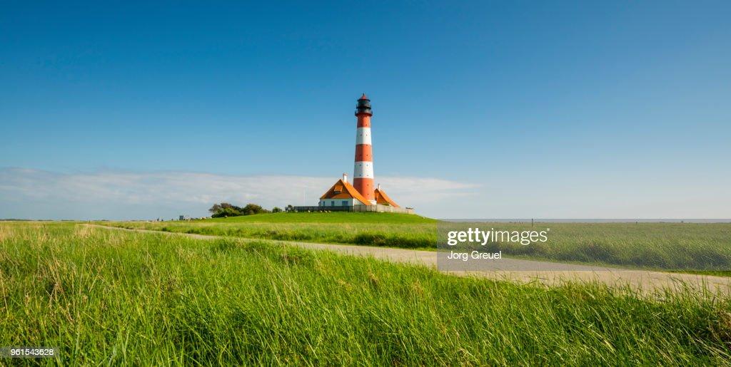 Westerhever lighthouse : Stock Photo