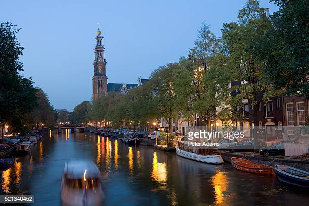 westerkerk in jordaan - peter adams stock pictures, royalty-free photos & images