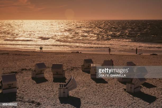 Westerland beach Island of Sylt Germany