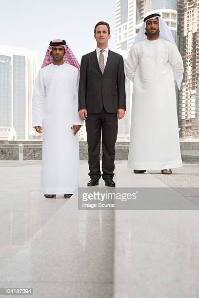 Western and middle eastern businessmen in dubai
