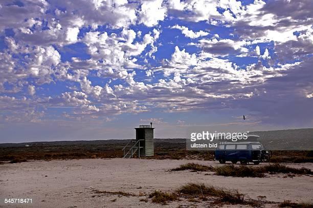 Western Australia Carnarvon Outback Public Toilet and VW Bus