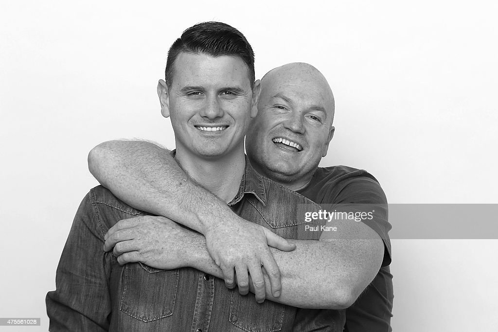 Western Australian couple, Jason Griffiths, age 31 and Mark McCarthy age 43 pose during a portrait session on May 31, 2015 in Fremantle, Australia. Jason a Police Officer and Mark a Publican, have been in a defacto relationship for 10 years, never fight or argue and live in Collie, a South West regional town which can be quite discriminatory, support same-sex marriage. 'All for one...Equality !', Mark said. The marriage equality debate in Australia has reignited on the back of Ireland's referendum legalising same-sex marriage last week. Recent polls suggest public support for gay marriage in Australia is at an all-time high of 72%.
