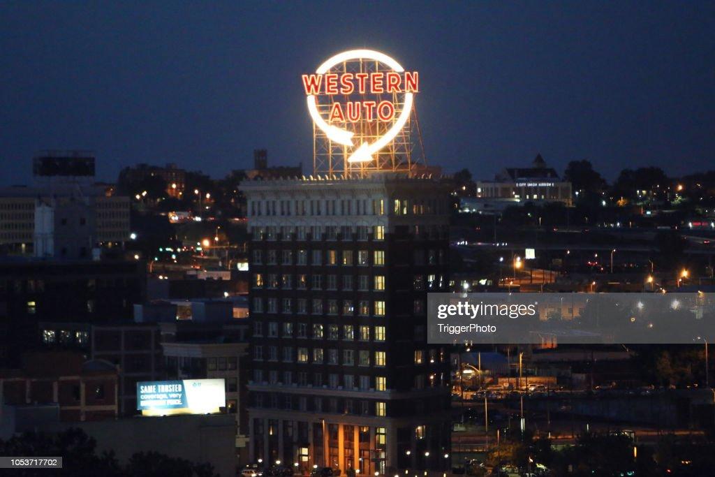 Western Auto Sign in Kansas City Missouri : Stock Photo