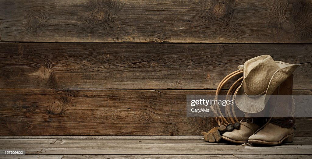 barn wood background. Western Barnwood Background W/boots,hat,lasso-extra Wide Barn Wood