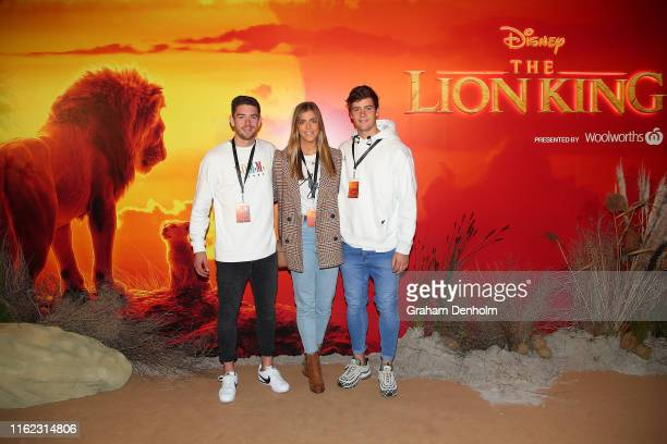 Western Bulldogs AFL player Josh Dunkley attends The Lion King Melbourne special event screening at Melbourne IMAX on July 16, 2019 in Melbourne,...