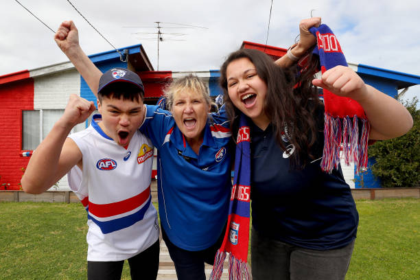 AUS: Football Fans in Melbourne Watch The AFL Grand Final