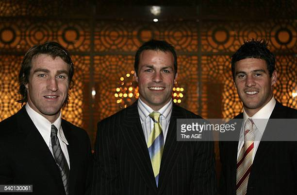 Western Bulldogs players Lindsay Gilby Brad Johnson and Scott West at the All Australian Awards at Crown on 11th September 2006 THE AGE SPORT Picture...