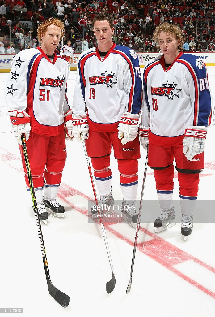 premium selection 0f9e5 097ef Western Conference All-Stars Brian Campbell, Jonathan Toews ...