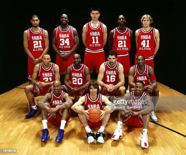 Western Conference AllStars Tim Duncan Shaquille O'Neal#34 Yao Ming Kevin Garnett Dirk Nowitzki Shawn Marion Gary Payton Predrag Stojakovic Kobe...