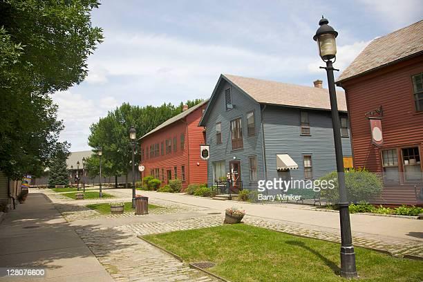 western gateway heritage state par, former railroad yard, north adams, the berkshires, massachusetts - massachusetts stock-fotos und bilder