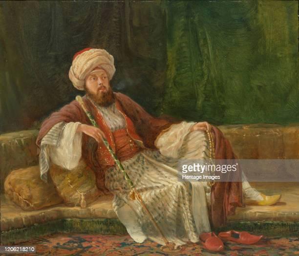 Western Gentleman in Oriental Costume. Artist British Painter .