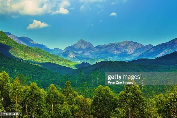 Western Ghats mountain range in Kerala, India