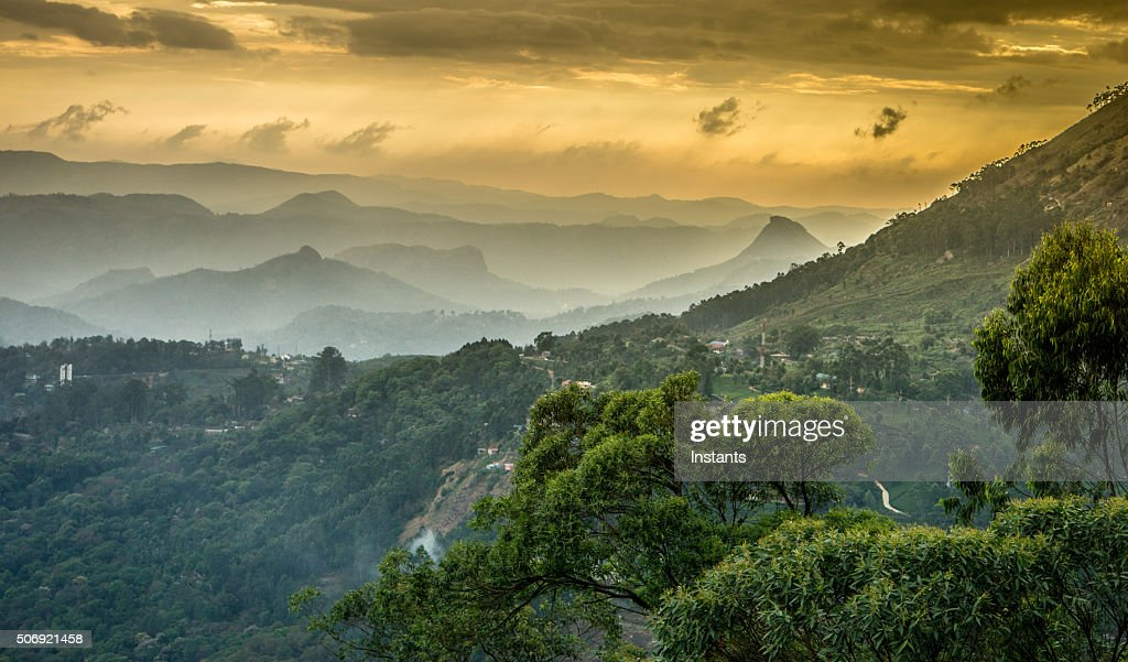 Western Ghats mountains : Stock Photo