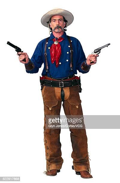 western gunfighter - pantalón de cuero fotografías e imágenes de stock